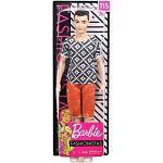 Barbie fashionista Ken babák - Fekete hajú rombusz mintás felsőben (kép 2)