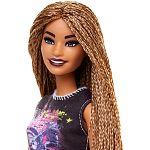 Barbie Fashionista barátnők - magas kreol bőrű piros szoknyában (kép 3)