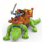 Fisher-Price Imaginext - Sétáló krokodil és Hook kaptiány (kép 2)