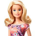 Barbie baba trópusi mintás ruhában - szőke (kép 2)
