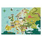 Clementoni super color felfedező térkép puzzle 250 db - Az EU országai (kép 2)