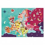 Clementoni super color felfedező térkép puzzle 250 db - Az EU híres emberei (kép 2)
