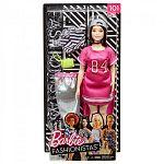 Barbie fashionista baba ruhákkal és kiegészítőkkel - molett pink ruhában (kép 3)