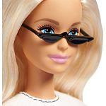 Barbie fashionista barátnők - szőke fekete-rózsaszín csíkos szoknyában (kép 2)