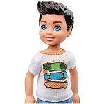 Barbie Chelsea babák - barna kisfiú gördeszkás felsőben (kép 2)