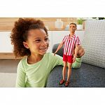 Barbie 60. évfordulós Ken baba - Barna hajú piros csíkos ingben (kép 2)