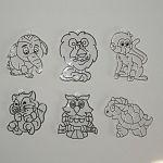 Kifesthető műanyag képek 6 db kicsi - vadállatok minta (kép 2)