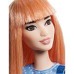 Barbie Fashionista barátnők - vörös kék ruhában (kép 2)