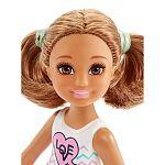 Barbie Chelsea babák - barna hajú szíves felsőben (kép 2)