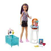 Barbie bébiszitter játékszett - Skipper etetőszékkel