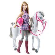 Barbie baba és lovacskája szett