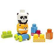 Mega Bloks Guruló állatos építőkockák - tigris és panda