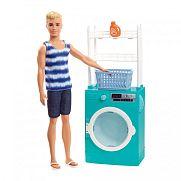 Barbie Ken hétköznapjai játékszett - mosókonyhás Ken