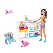 Barbie Skipper bébiszitter gyerekszoba szett