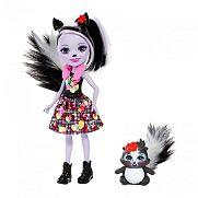 Enchantimals baba állatkával - Sage Skunk és Caper ÚJ