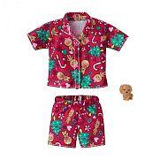 Barbie karácsonyi ruhák - Karácsonyi mintás pizsama