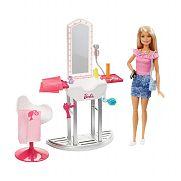 Barbie szoba babával - Fodrászat