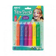 Amos Arcfesték 6 féle színnel - lányos