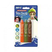 Amos Arcfesték 3 féle színnel - fiús