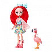 Enchantimals baba állatkával - Fanci flamingo és Swash