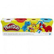 Play-Doh 4 darabos gyurmaszett - alap színek