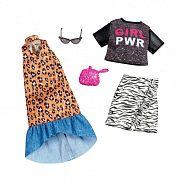 Barbie ruhák 2 darabos szett - párduc mintás