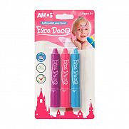 AMOS Arcfesték 3 féle színnek - lányos