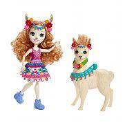 Enchantimals baba nagy állatkával - Lluella Láma és Fleecy