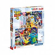 Clementoni supercolor puzzle 2x20 darab - Toy Story 4.
