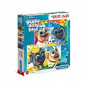 Clementoni supercolor puzzle 2x20 darab - Kutyapajtik