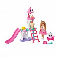 Barbie Princess Adventure Chelsea kiskedvencek kastélya játékszett