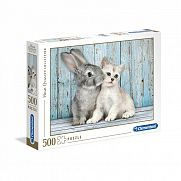 Clementoni High Quality Collection puzzle 500 db - Cica nyuszival