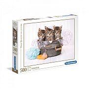 Clementoni High Quality Collection puzzle 500 db - Fürdőző cicák