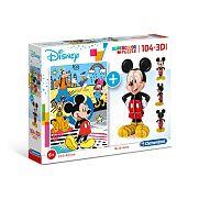 Clementoni supercolor 104 db + 3D puzzle - Mickey egér