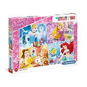 Clementoni supercolor puzzle 180 db - Disney hercegnők