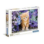 Clementoni High Quality Collection puzzle 500 db - Vörös cica