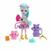 Royal Enchantimals baba állatka családdal - Deanna Dragon és sárkánykái