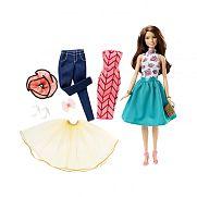 Barbie divatos ruhatárral - barna