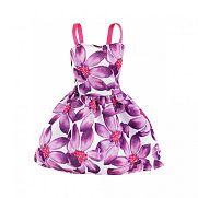 Barbie ruhák - lila virágos