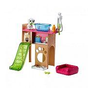 Barbie bútorok kiegészítőkkel - kisállat játszótér