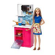Barbie szoba babával - konyha ÚJ