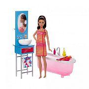 Barbie szoba babával - fürdőszoba ÚJ