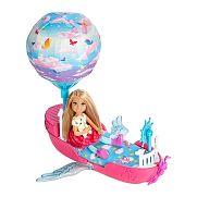 Barbie Dreamtopia Chelsea léghajó ággyal