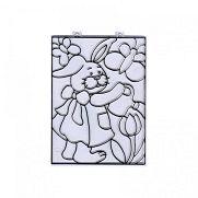 Kifesthető műanyag kép - Húsvéti nyuszi virággal