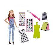 Barbie D.I.Y. Emoji ruhatervező baba- szőke