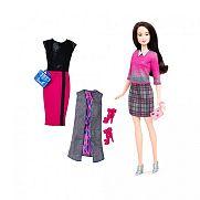 Barbie fashionista babák ruhákkal és kiegészítőkkel - fekete hajú