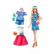 Barbie fashionista babák ruhákkal és kiegészítőkkel - vörös hajú magas baba