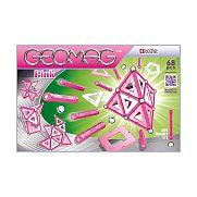 Geomag mágneses építő - Paneles szett pink 68 db