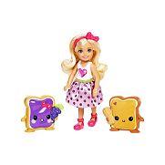 Barbie Dreamtopia Chelsea mogyoróvajas és lekváros nasival