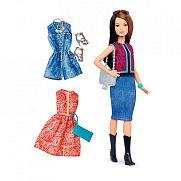 Barbie fashionista babák ruhákkal és kiegészítőkkel - fekete-vörös hajú alacsony